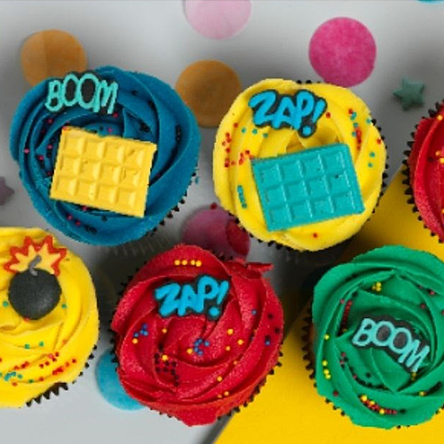 Superhero Edible Cupcake Toppers 10pcs