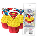 Superman Edible Wafer Cupcake Toppers 16pcs