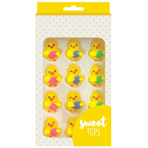 Chicks with Eggs Easter Edible Cupcake Decorations