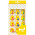 Chicks with Eggs Easter Edible Cupcake Decorations 12pcs