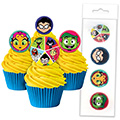 Teen Titans Edible Wafer Cupcake Toppers 16pcs