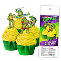 Teenage Mutant Ninja Turtles Edible Wafer Cupcake Toppers 16pcs