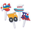 Transportation Cupcake Picks 12pcs