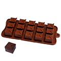 Triangle Topped Square Silicone Chocolate Mould
