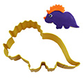 Triceratops Dinosaur Yellow Cookie Cutter