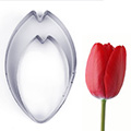 Tulip Petal Flower Cutters 2pcs