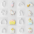 Unicorn Cutter & Stencil Set 8pcs