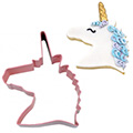 Unicorn Head Pink Cookie Cutter