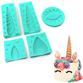 Unicorn Silicone Mould 5pcs