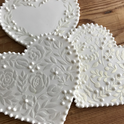 Vintage Hearts Cookie Stencils 3pcs