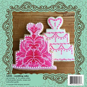Wedding cake cookie cutter stencil set for Football cookie cutter template