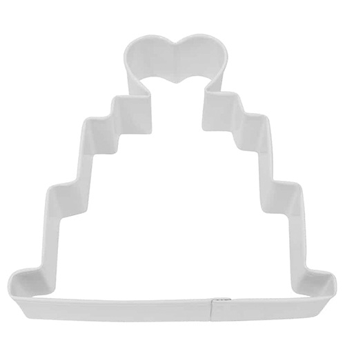 Wedding Cake White Cookie Cutter