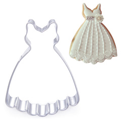 Wedding Dress D2 Stainless Steel Cookie Cutter