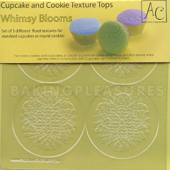 Whimsy Blooms Cupcake & Cookie Texture Tops 3pcs