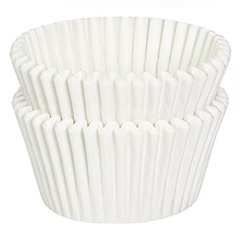BULK White Grease Proof LArge Baking Cups (#550)