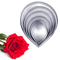 Wide Rose Petal Flower Cutter 6pcs