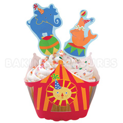 Wilton Big Top Cupcake Wraps & Picks