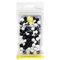 Wilton Black and White Soccer Football Sprinkles 56g (BB: 21 Jan 2021)