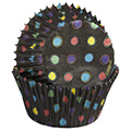 Wilton Black with Neon Baking Cups 75pcs