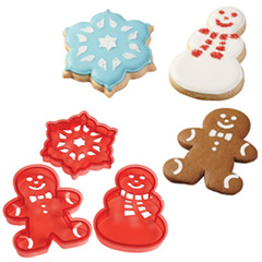 Cookie Cutter Christmas.Wilton Christmas Cookie Cutter Stencil Set 3pcs