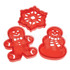 Wilton Christmas Cookie Cutter Stencil Set 3pcs