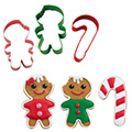 Wilton Christmas Frosted Fun Cutters 3pcs