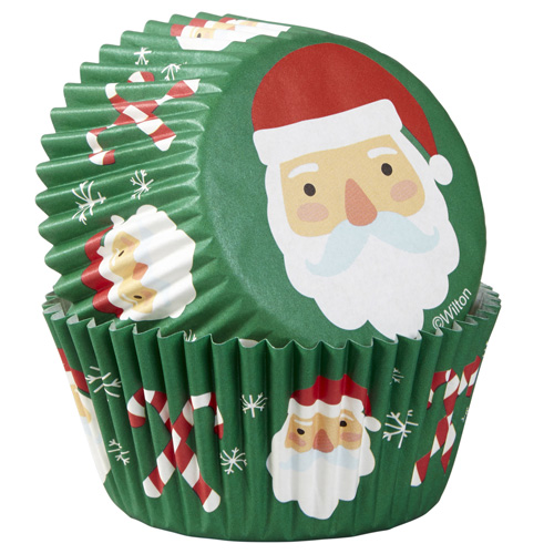 Wilton Christmas Santa & Candy Cane Baking Cups