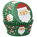 Wilton Christmas Santa & Candy Cane Baking Cups 75pcs