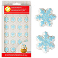 Wilton Christmas Snowflake Icing Decoration 24pcs