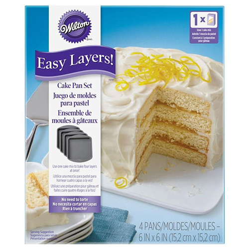 Wilton Easy Layer 6 Inch Square Cake Pan