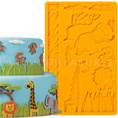 Wilton Fondant and Gum Paste Mould Jungle Animals