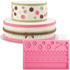 Wilton Fondant and Gum Paste Silicone Mould Fabric
