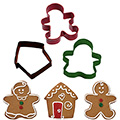 Wilton Gingerbread Christmas Cutters 3pcs