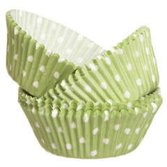 Wilton Green Polka Dot Baking Cups