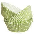 Wilton Green Polka Dot Baking Cups 75pcs