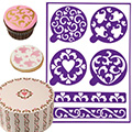 Wilton Hearts Stick-N-Stay Stencils 6pcs