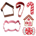 Wilton Holiday Candy Christmas Cutters 3pcs