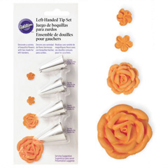 Wilton Left Handed Decorators Flower Piping Tip Set