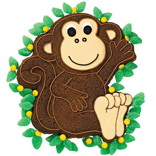 Monkey Novelty Cake PanTin
