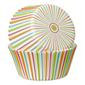 Wilton Multi Color Stripe Baking Cups 75pcs