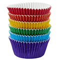 Wilton Multi Foil Rainbow Baking Cups 72pcs