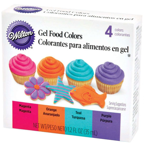 Wilton Neon 4 Gel Food Colour Set