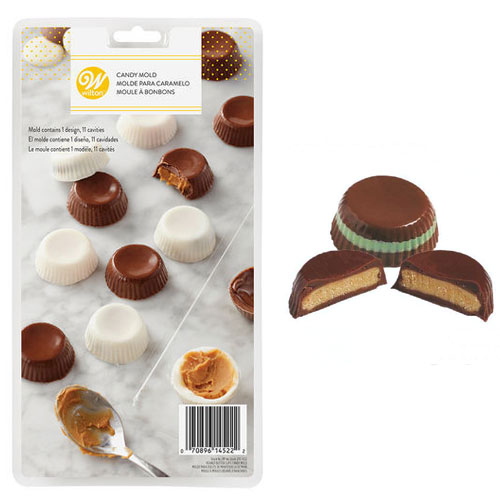 Wilton Peanut Butter Cups Chocolate/Candy Mould