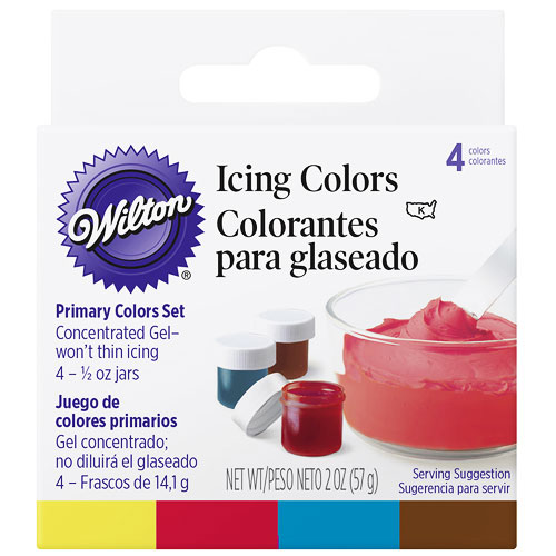 Wilton Primary 4 Icing Colours Set