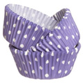 Wilton Purple Polka Dot Baking Cups 75pcs