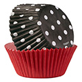 Wilton Red & Black Polka Dot Baking Cups 75pcs