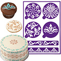 Wilton Scrolls Stick-N-Stay Stencils 6pcs
