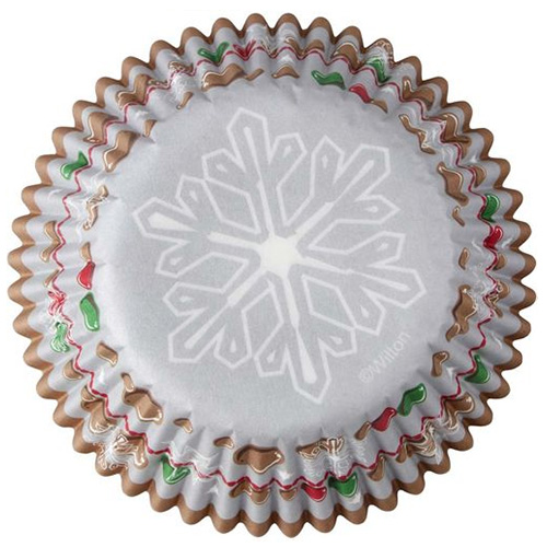Wilton Snowflake Christmas Baking Cups 75pcs