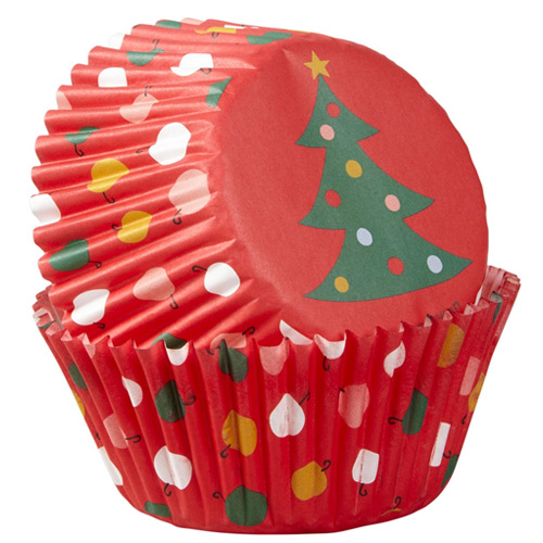Wilton Tree Ornaments Christmas Baking Cups