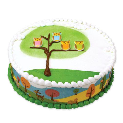 Woodland Animals Designer Edible Image